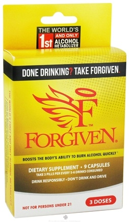 DROPPED: Rockhard Laboratories - Forgiven Alcohol Metabolizer - 9 Capsules CLEARANCE PRICED