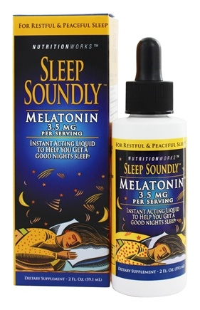 NutritionWorks - Sleep Soundly Melatonin Liquid 3.5 mg. - 2 oz.