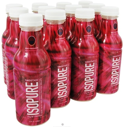 DROPPED: Nature's Best - Isopure Smoothie RTD Berry Pomegranate - 12 Bottle(s)