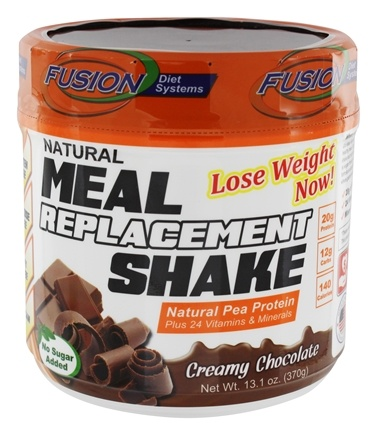 Fusion Diet Systems - Natural Meal Replacement Shake Creamy Chocolate - 12 oz.