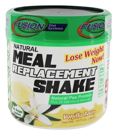 Fusion Diet Systems - Natural Meal Replacement Shake Vanilla Bean - 12 oz.