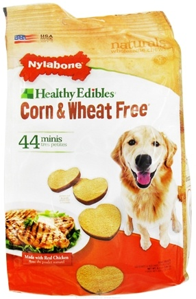 DROPPED: Nylabone - Healthy Edibles Corn & Wheat Free Mini Dog Treats Chicken - 44 Piece(s) CLEARANCE PRICED