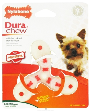 DROPPED: Nylabone - Dura Chew Air Screw Petite For Powerful Chewers Up To 15 lbs. Bacon Flavored - CLEARANCE PRICED