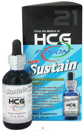 DROPPED: Fusion Diet Systems - HCG Fusion Sustain Natural Maintenance Support - 2 oz.