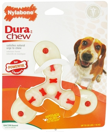 DROPPED: Nylabone - Dura Chew Air Screw Wolf For Powerful Chewers Up To 35 lbs. Bacon Flavored