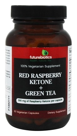 Futurebiotics - Raspberry Ketone & Green Tea 100% Vegetarian Supplement 300 mg. - 60 Vegetarian Capsules