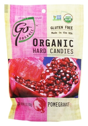 Go Naturally - Organic Hard Candies Pomegranate - 3.5 oz.
