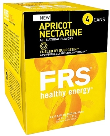 DROPPED: FRS Healthy Energy - All Natural Energy Drink 4 x 11.5 oz Cans Apricot Nectarine - 4 Pack CLEARANCE PRICED