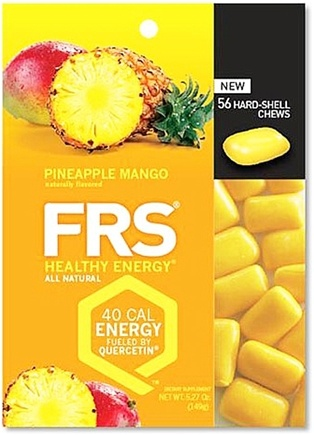 DROPPED: FRS Healthy Energy - Hard Shell Chews Pineapple Mango - 56 Chews CLEARANCE PRICED