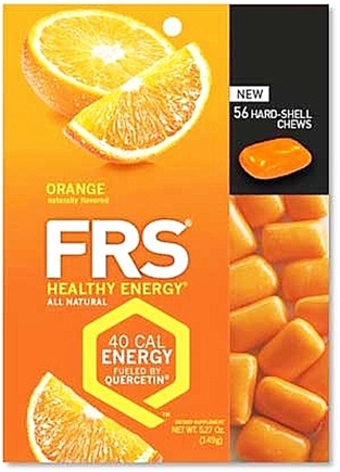 DROPPED: FRS Healthy Energy - Hard Shell Chews Orange - 56 Chews