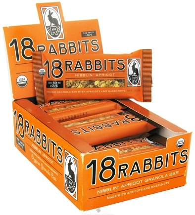 DROPPED: 18 Rabbits - Organic Granola Bar Nibblin' Apricot - 1.9 oz.