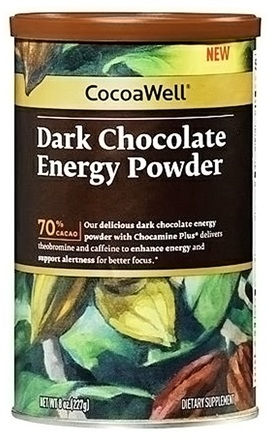 DROPPED: Reserveage Nutrition - CocoaWell Dark Chocolate Energy Powder - 8 oz. CLEARANCE PRICED