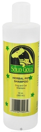 DROPPED: Solid Gold - Herbal Pet Shampoo For Dogs & Cats - 12 oz. CLEARANCE PRICED