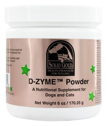 DROPPED: Solid Gold - D-ZYME Powder For Cats & Dogs - 6 oz.