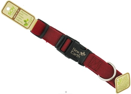 DROPPED: Coastal Pet Products - New Earth Soy Pet Collar Large 1 Inch Cranberry - CLEARANCE PRICED