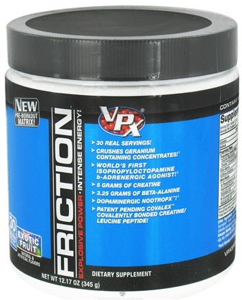 DROPPED: VPX - Friction Pre-Workout Matrix - 30 Servings Exotic Fruit - 12.17 oz. CLEARANCE PRICED