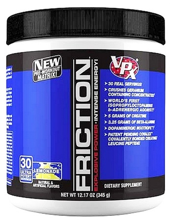 DROPPED: VPX - Friction Pre-Workout Matrix - 30 Servings Lemonade - 12.17 oz. CLEARANCE PRICED