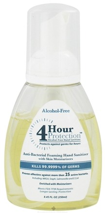 DROPPED: 4 Hour Protection - Alcohol-Free Antibacterial Foaming Hand Sanitizer with Skin Moisturizers - 8.45 oz.