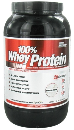DROPPED: Top Secret Nutrition - 100% Whey Protein Vanilla Cream - 2 lbs.