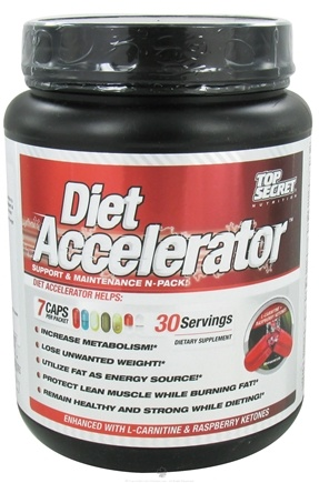 DROPPED: Top Secret Nutrition - Diet Accelerator Support and Maintenance N-Pack - 30 Pack(s) CLEARANCE PRICED