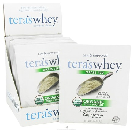 DROPPED: Tera's Whey - Organic Grass Fed Whey Protein Packet Plain Whey Unsweetened - 1 oz.