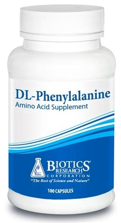 DROPPED: Biotics Research - DL-Phenylalanine 600 mg. - 100 Capsules CLEARANCE PRICED