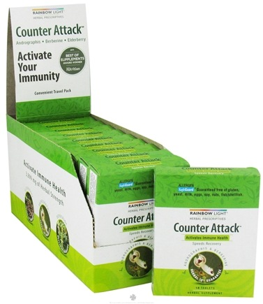 DROPPED: Rainbow Light - Counter Attack Immune Health - 10 Tablets CLEARANCE PRICED