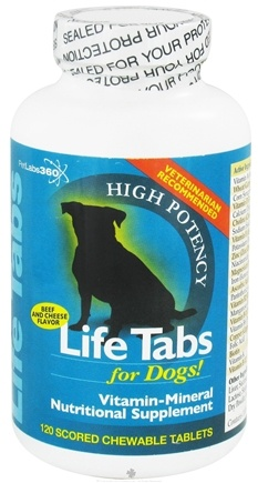 DROPPED: PetLabs360 - Life Tabs For Dogs Beef & Cheese - 120 Chewable Tablets CLEARANCE PRICED