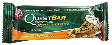 DROPPED: Quest Nutrition - Quest Bar Protein Bar Peanut Butter Supreme - 2.12 oz. Former Packaging