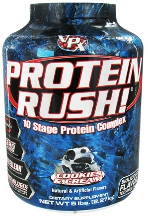 DROPPED: VPX - Protein Rush 10 Stage Protein Complex Cookies & Cream - 5 lbs.