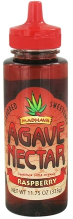 DROPPED: Madhava Natural Sweeteners - Agave Nectar Flavored Sweetener Raspberry - 11.75 oz. CLEARANCE PRICED