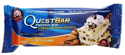 DROPPED: Quest Nutrition - Quest Bar Protein Bar Vanilla Almond Crunch - 2.12 oz. Former Packaging