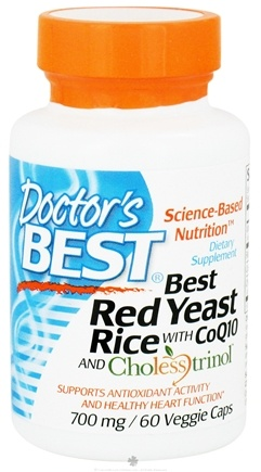 DROPPED: Doctor's Best - Best Red Rice Yeast with CoQ10 and Cholesstrinol 700 mg. - 60 Vegetarian Capsules