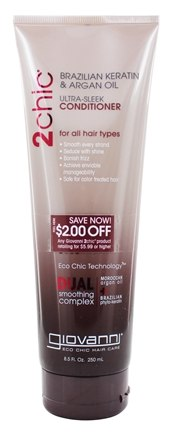 Zoom View - 2Chic Brazilian Keratin & Argan Oil Ultra-Sleek Conditioner