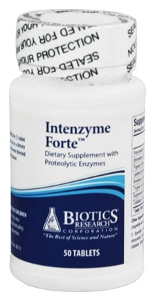 DROPPED: Biotics Research - Intenzyme Forte Proteolytic Enzyme Supplement - 50 Tablets