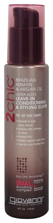 Zoom View - 2Chic Brazilian Keratin & Argan Oil Ultra-Sleek Leave-In Conditioning &