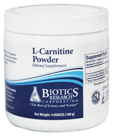 DROPPED: Biotics Research - L-Carnitine Powder - 100 Grams