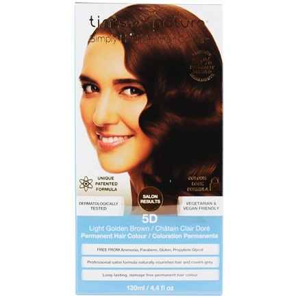 Tints Of Nature - Conditioning Permanent Hair Color 5D Light Golden Brown - 4.4 oz. LUCKY PRICE