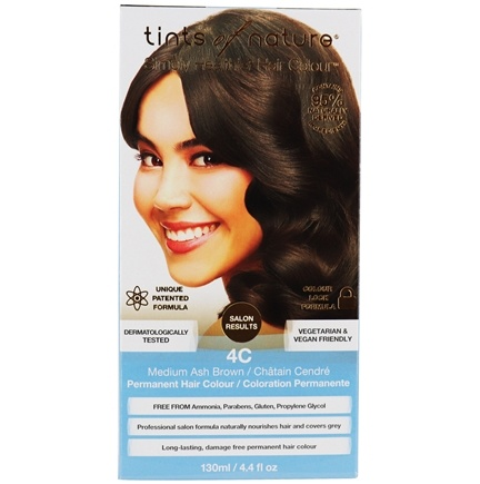 Tints Of Nature - Conditioning Permanent Hair Color 4C Medium Ash Brown - 4.4 oz. LUCKY PRICE
