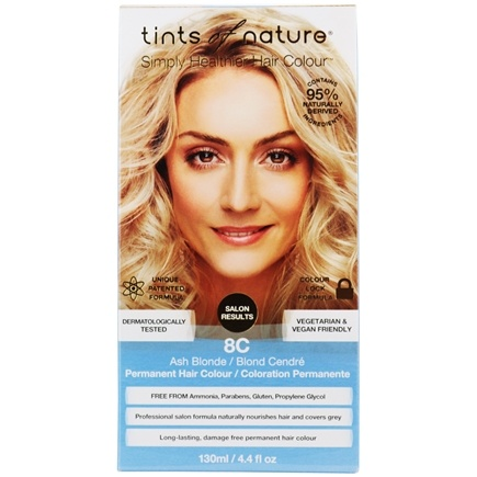 Tints Of Nature - Conditioning Permanent Hair Color 8C Ash Blonde - 4.4 oz. LUCKY PRICE