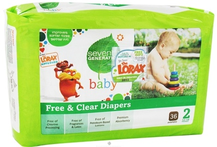 Zoom View - Free and Clear Baby Diapers Stage 2 (12-18 lbs.)