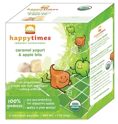 DROPPED: HappyFamily - Happy Times Organic Caramel Yogurt and Apple Bits - 1.1 oz.