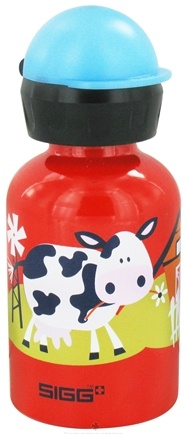 DROPPED: Sigg - Aluminum Water Bottle For Kids Barnyard Fun - 0.3 Liter(s) CLEARANCE PRICED