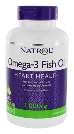 Natrol - Omega-3 Fish Oil Lemon Flavor 1000 mg. - 150 Softgels