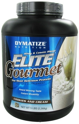 DROPPED: Dymatize Nutrition - Elite Gourmet Protein Whey & Casein Blend Powder Cookies & Cream - 5 lbs.