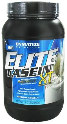 DROPPED: Dymatize Nutrition - Elite Casein XT Smooth Vanilla - 2 lbs. CLEARANCE PRICED