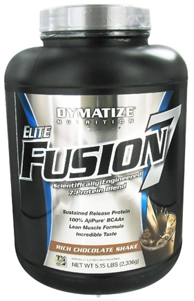 DROPPED: Dymatize Nutrition - Elite Fusion 7 Scientifically Engineered 7-Protein Blend Rich Chocolate Shake - 5.15 lbs.