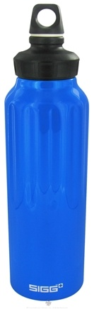 DROPPED: Sigg - Aluminum Water Bottle Wide Mouth Traveler Dark Blue - 1.5 Liter(s)