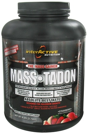 DROPPED: InterActive Nutrition - Mass-Tadon Strawberry - 6 lbs. CLEARANCE PRICED