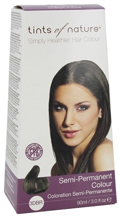 Tints Of Nature - Semi-Permanent Hair Color Dark Brown - 3 oz. LUCKY PRICE